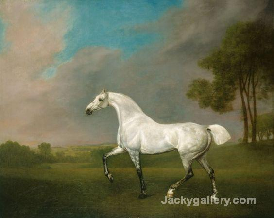 A Grey horse by George Stubbs paintings reproduction