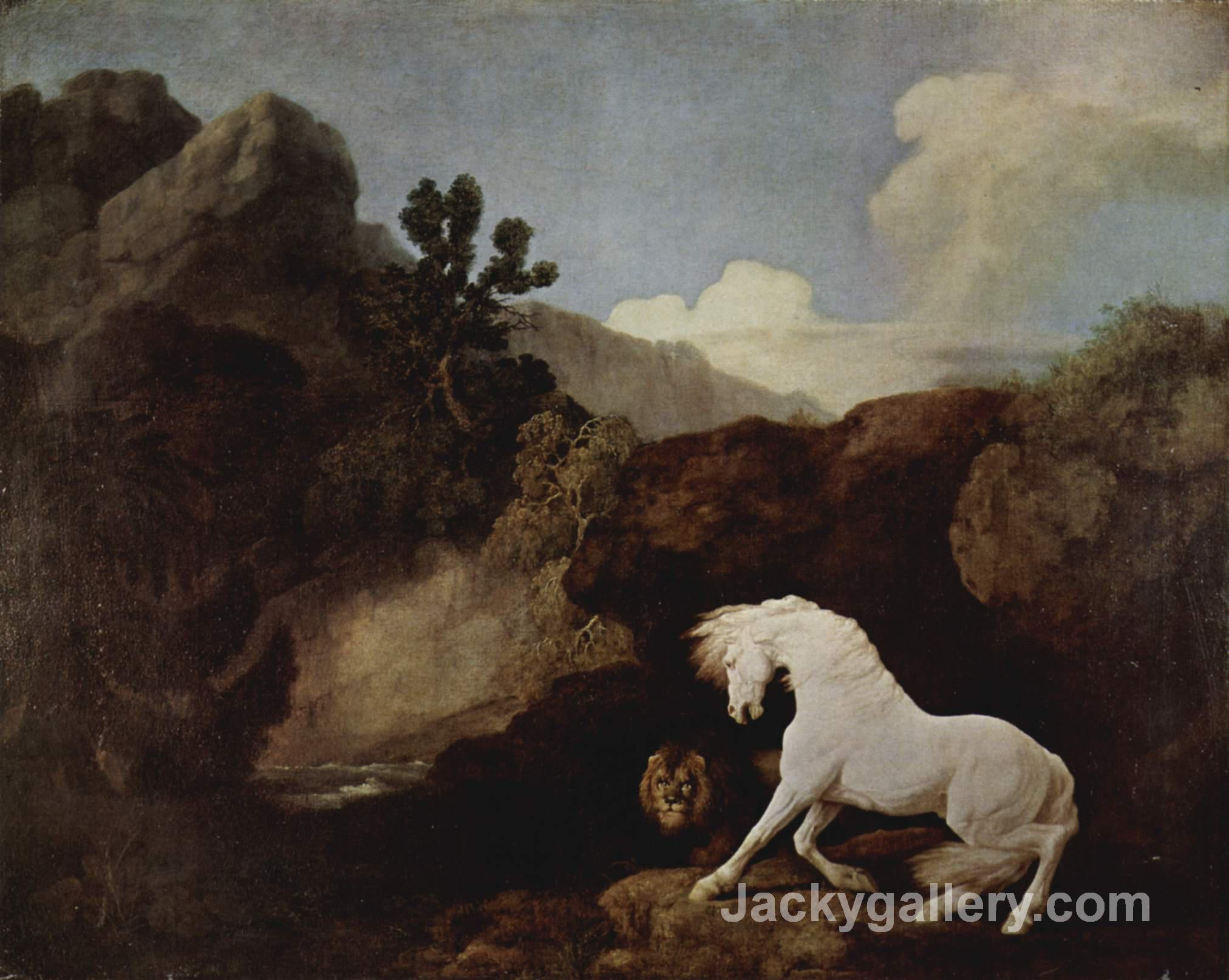 A Horse Frightened by a Lion by George Stubbs paintings reproduction