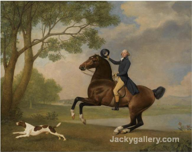 Baron De Robeck Riding A Bay Hunter by George Stubbs paintings reproduction