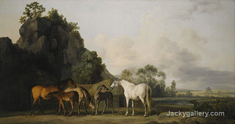 Brood Mares And Foals by George Stubbs paintings reproduction