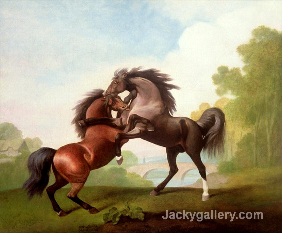 Fighting Stallions by George Stubbs paintings reproduction