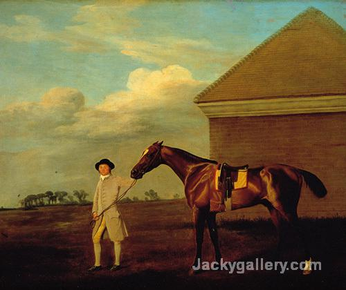 Firetail and Trainer on Newmarket Heath by George Stubbs paintings reproduction
