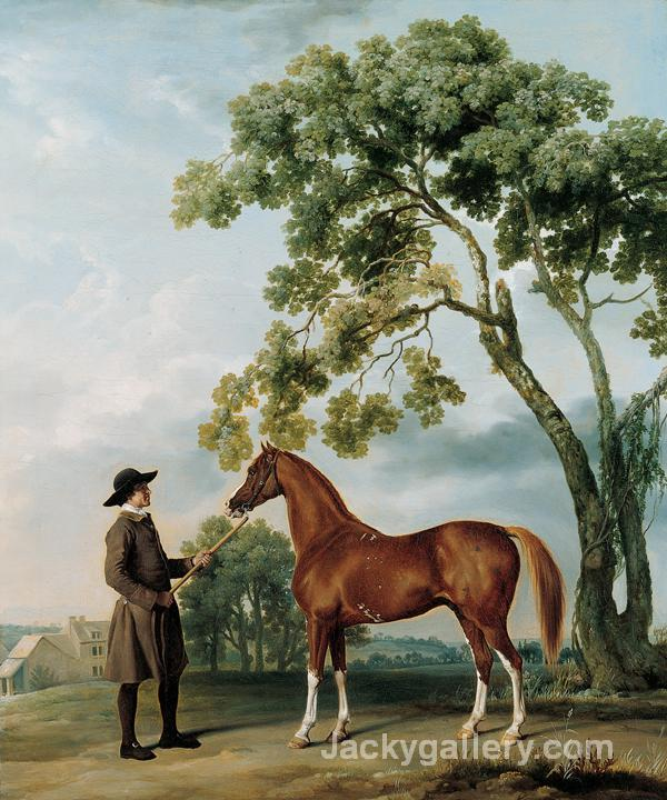 Lord Grosvenors Arabian Stallion with a Groom by George Stubbs paintings reproduction