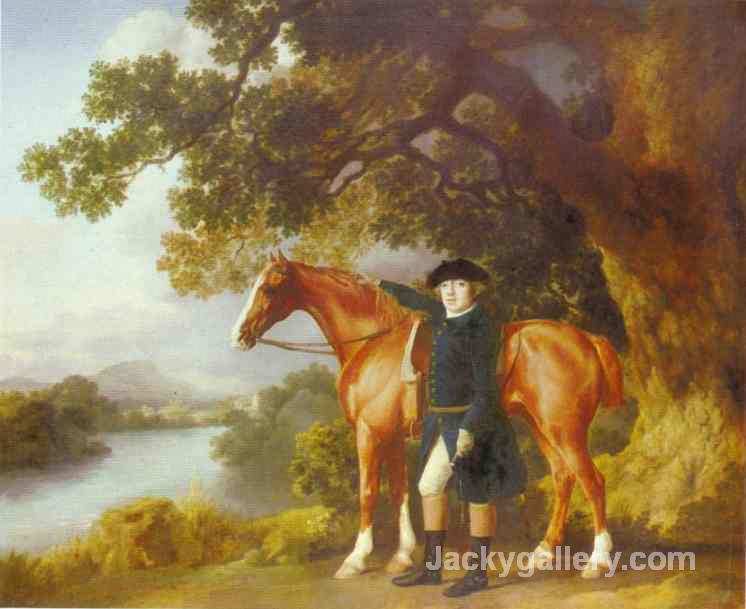 Portrait Of A Huntsman by George Stubbs paintings reproduction