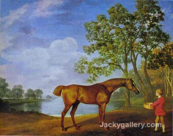 Pumpkin With A Stable Lad by George Stubbs paintings reproduction