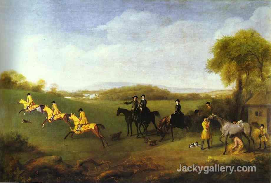 Racehorses Belonging to the Duke of Richmond Exercising at Goodwood by George Stubbs paintings reproduction