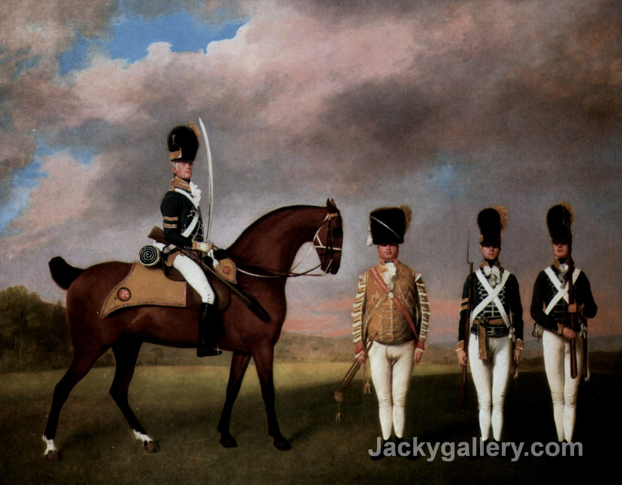 Soldiers Of The 10th Dragoon Regiment by George Stubbs paintings reproduction