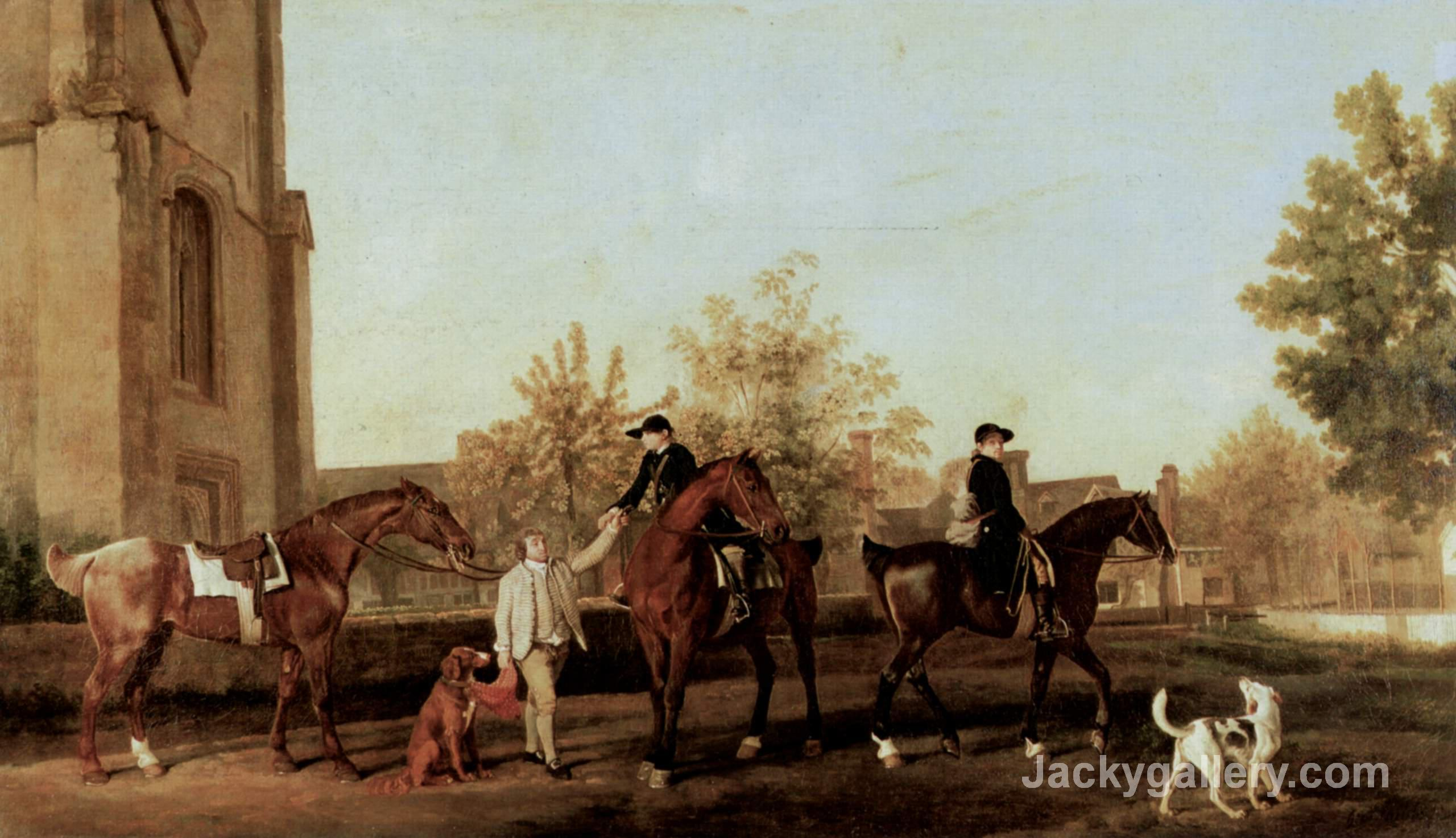The Hunters Leave Southill by George Stubbs paintings reproduction