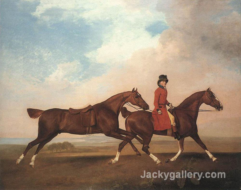 William Anderson with two saddle-horses by George Stubbs paintings reproduction