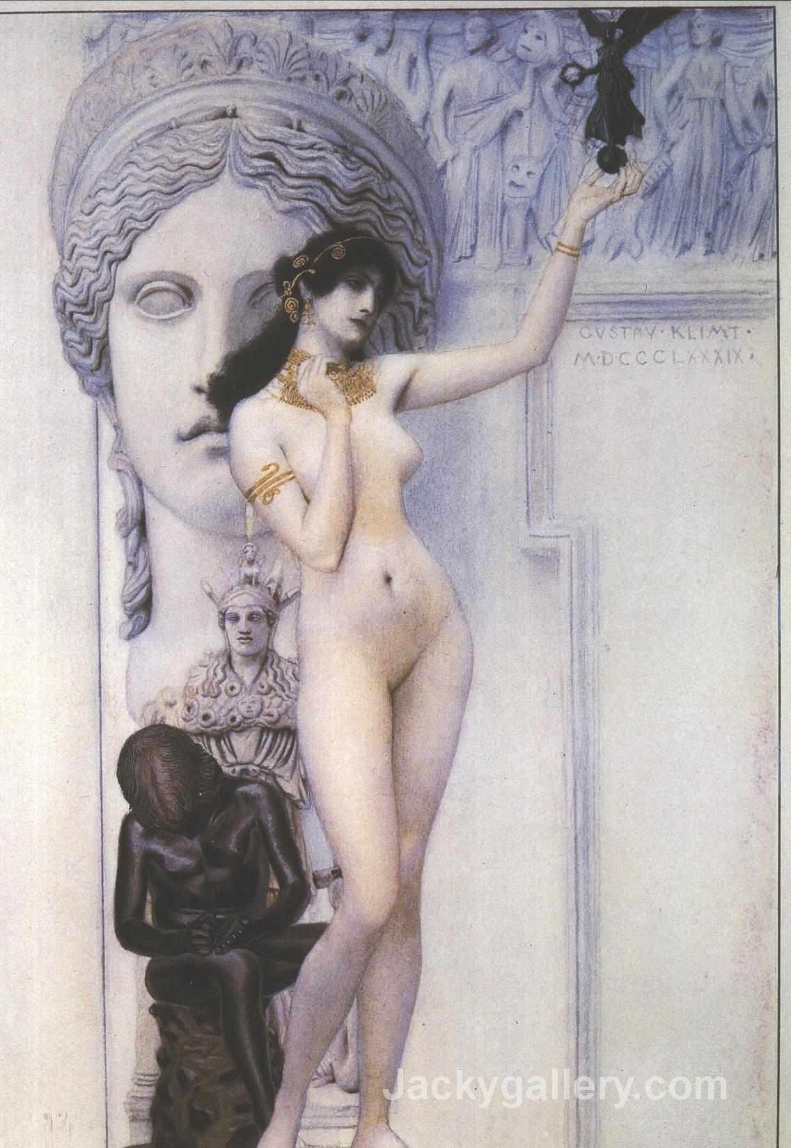 Allegory of Sculpture by Gustav Klimt paintings reproduction