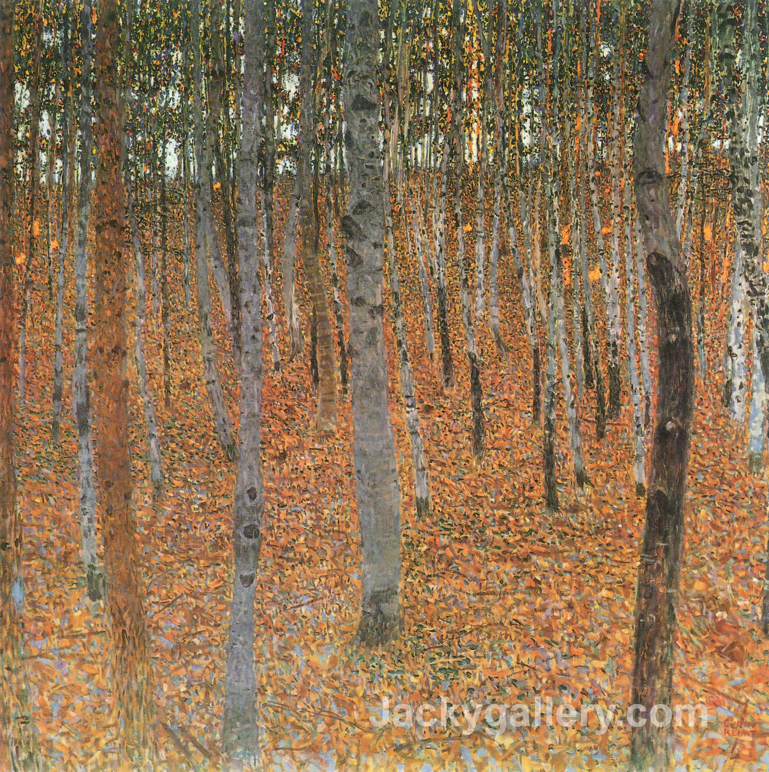 Beech Grove I by Gustav Klimt paintings reproduction