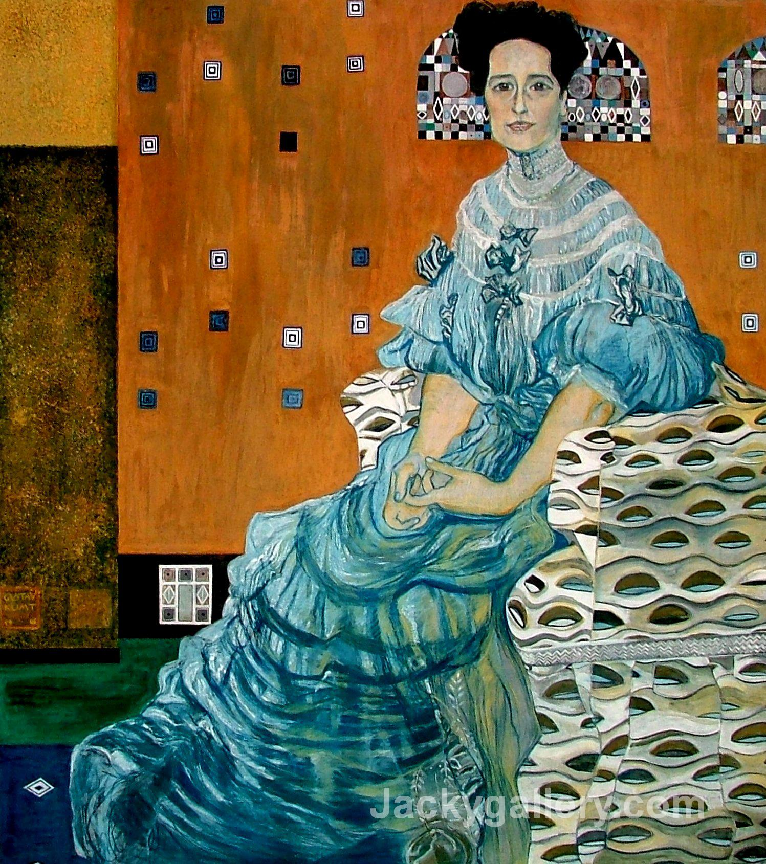 Bildnis Frieza Riedler by Gustav Klimt paintings reproduction