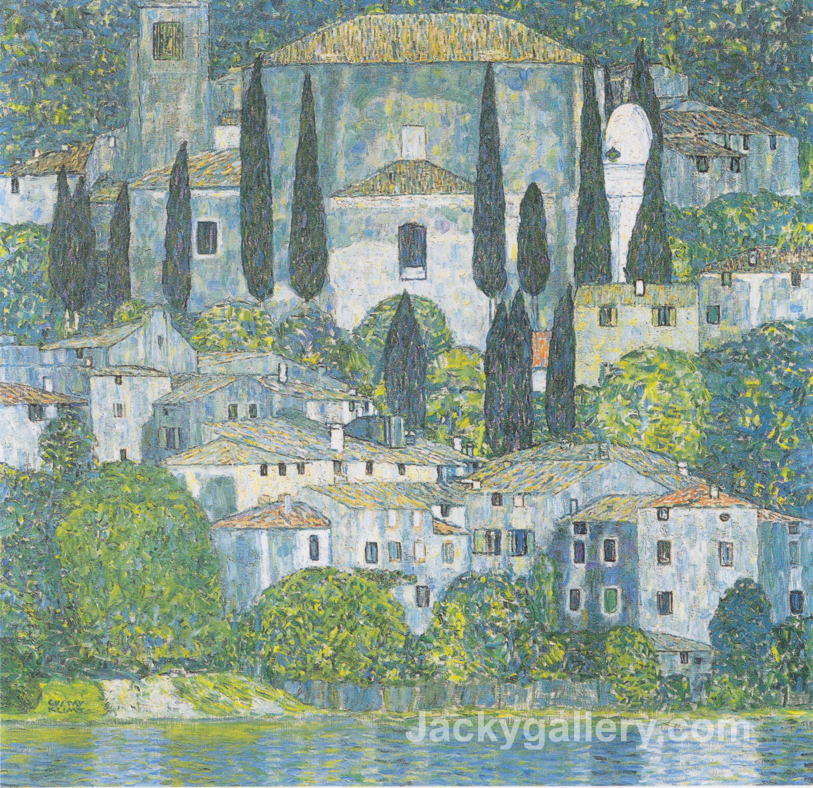 Chruch In Cassone by Gustav Klimt paintings reproduction