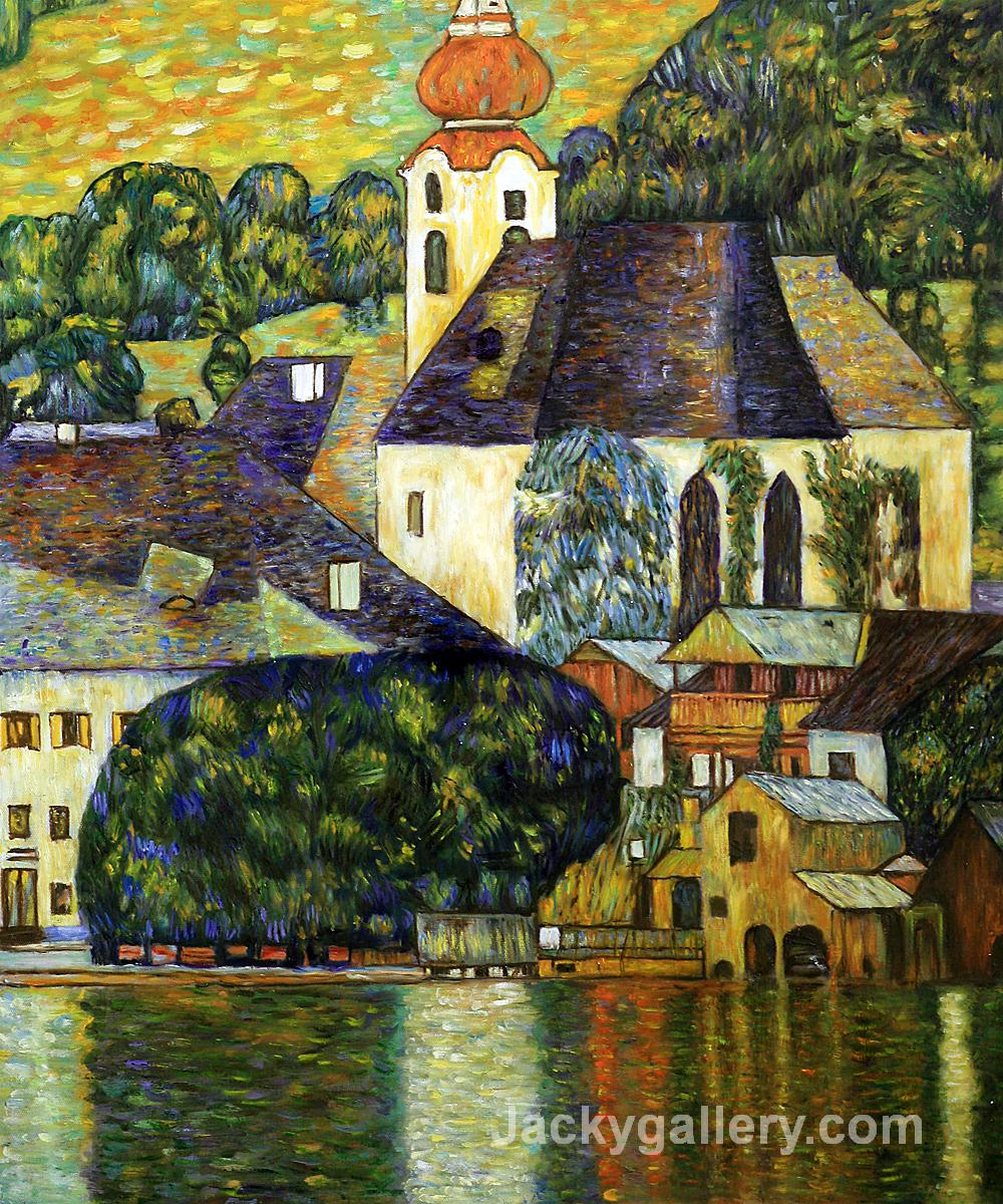 Church in Unterach on the Attersee by Gustav Klimt paintings reproduction