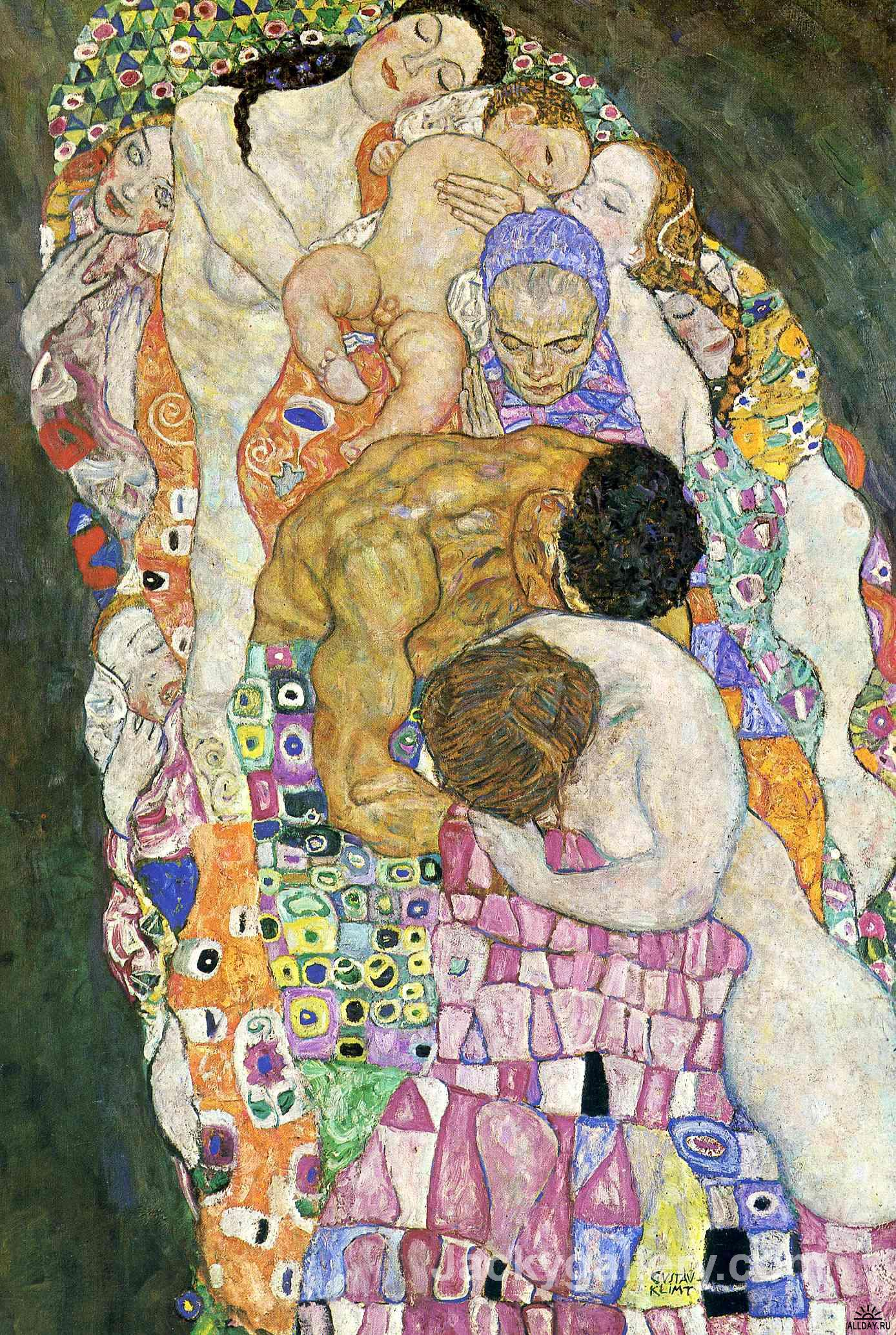Death And Life details by Gustav Klimt paintings reproduction
