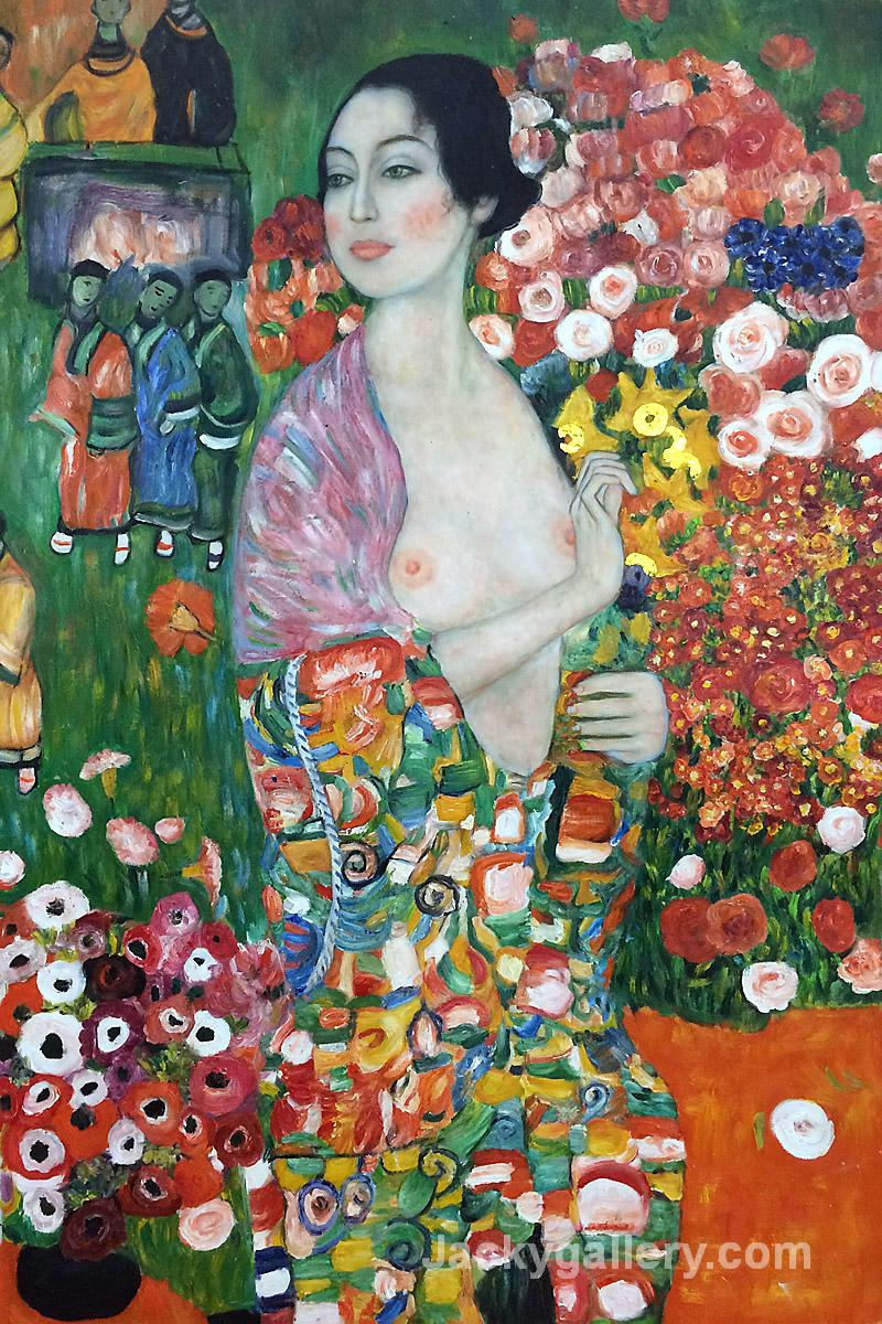 Die Tanzerin, The Dancer by Gustav Klimt paintings reproduction