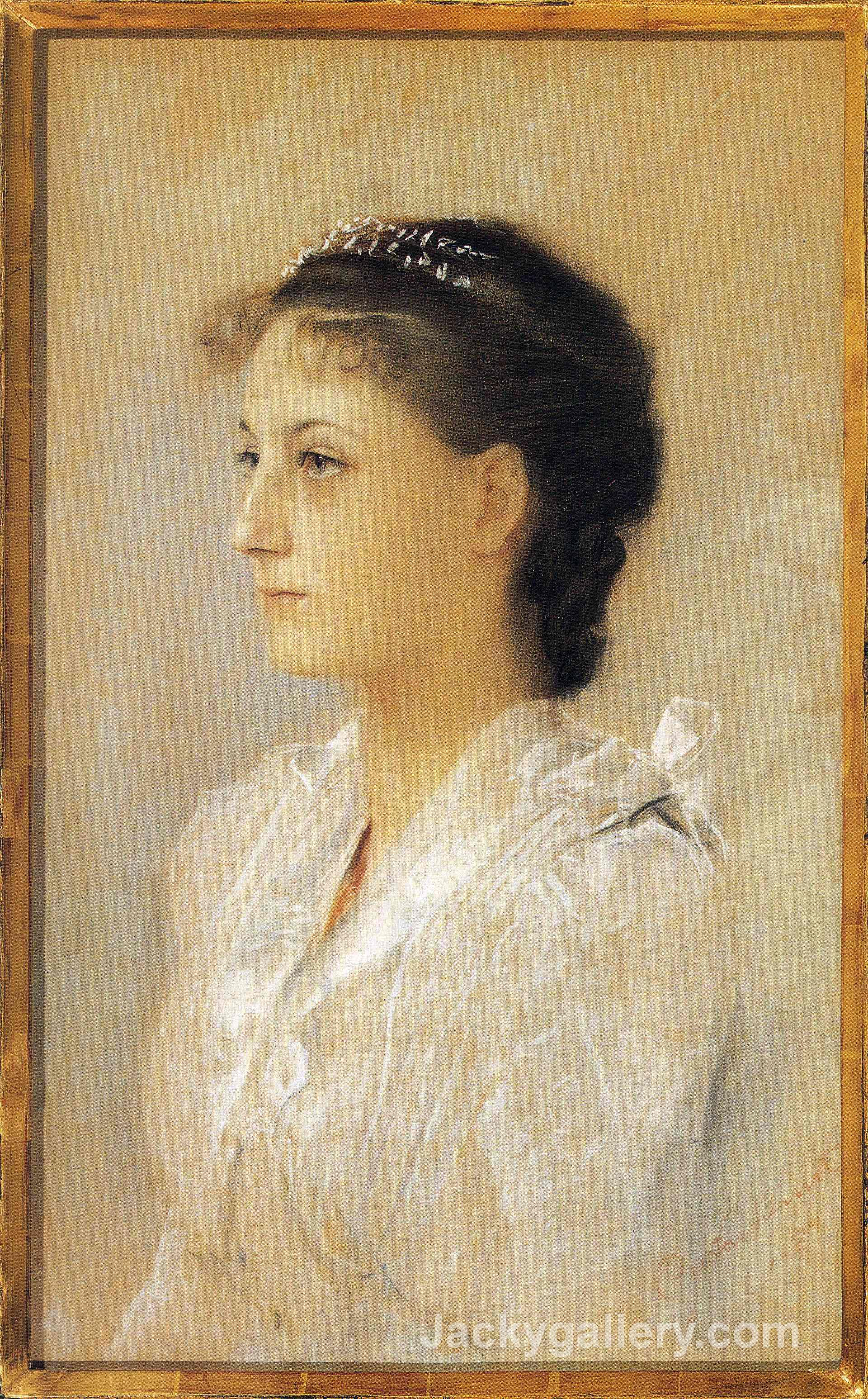 Emilie Floge,Aged 17 by Gustav Klimt paintings reproduction