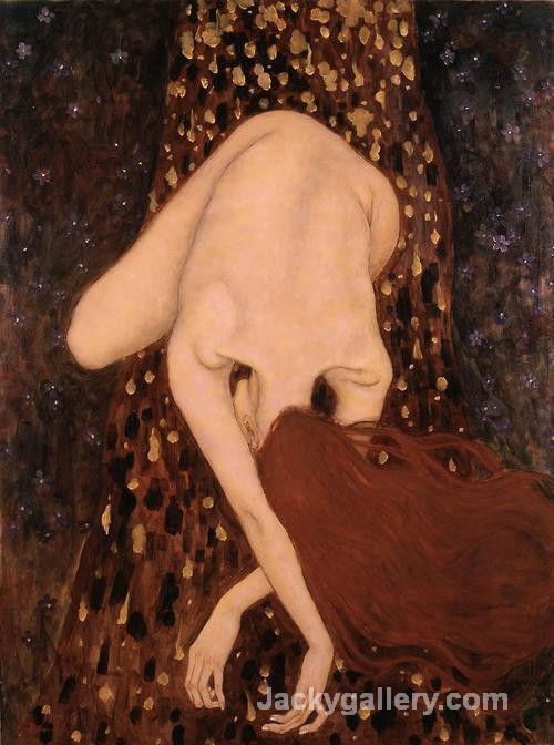 Floating Nude by Gustav Klimt paintings reproduction