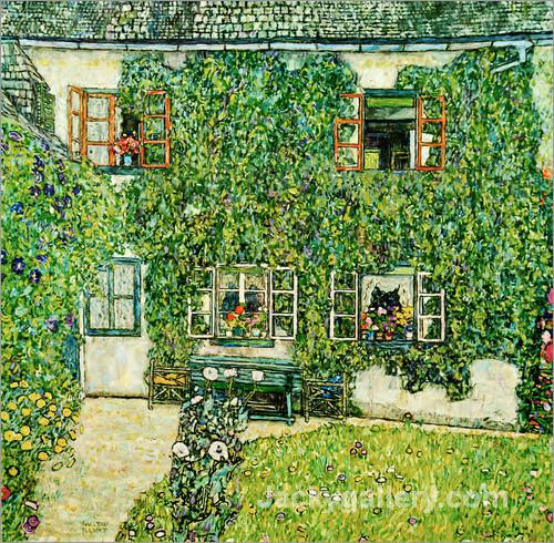 Forsthaus in Weissenbach am Attersee by Gustav Klimt paintings reproduction