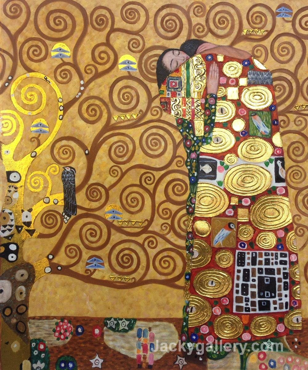 Fulfillment (Luxury Line) by Gustav Klimt paintings reproduction