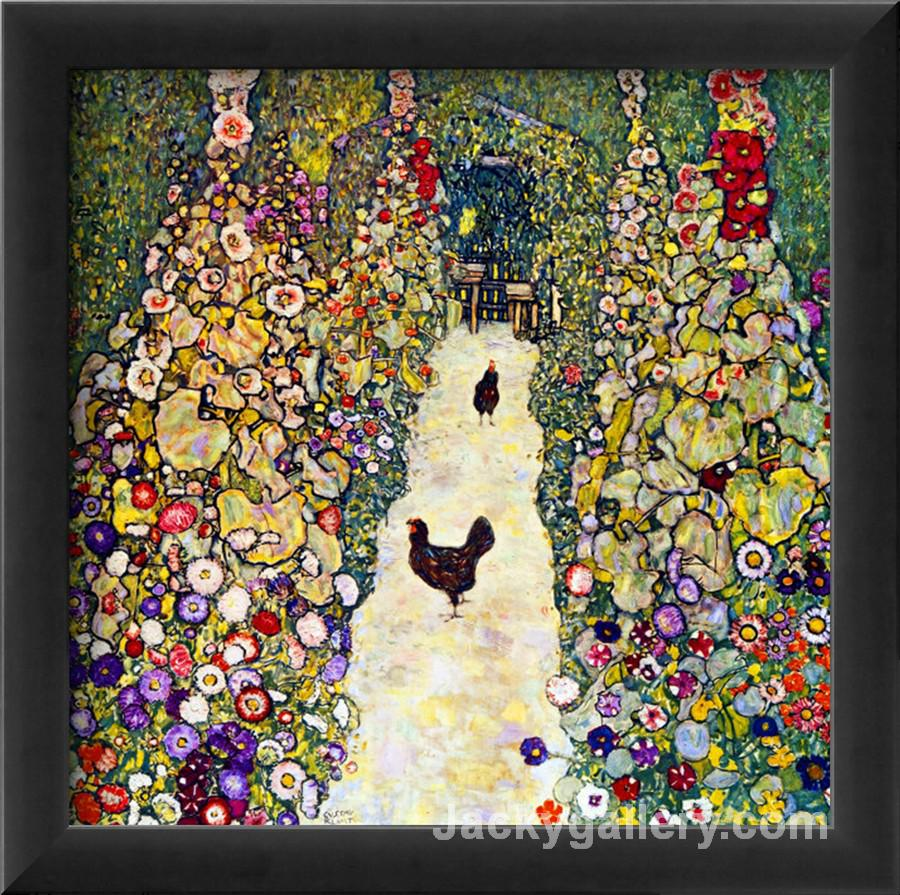 Gardenpath with Hens by Gustav Klimt paintings reproduction