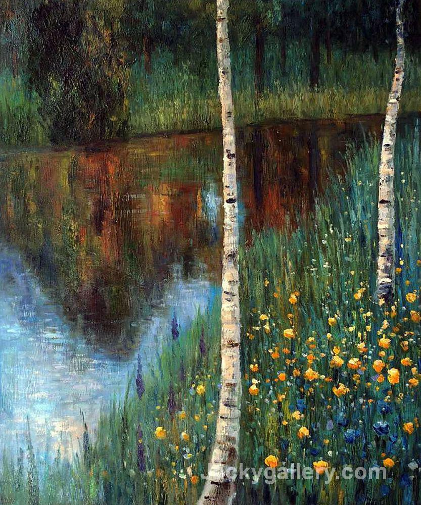 Landscape with Birch Trees by Gustav Klimt paintings reproduction