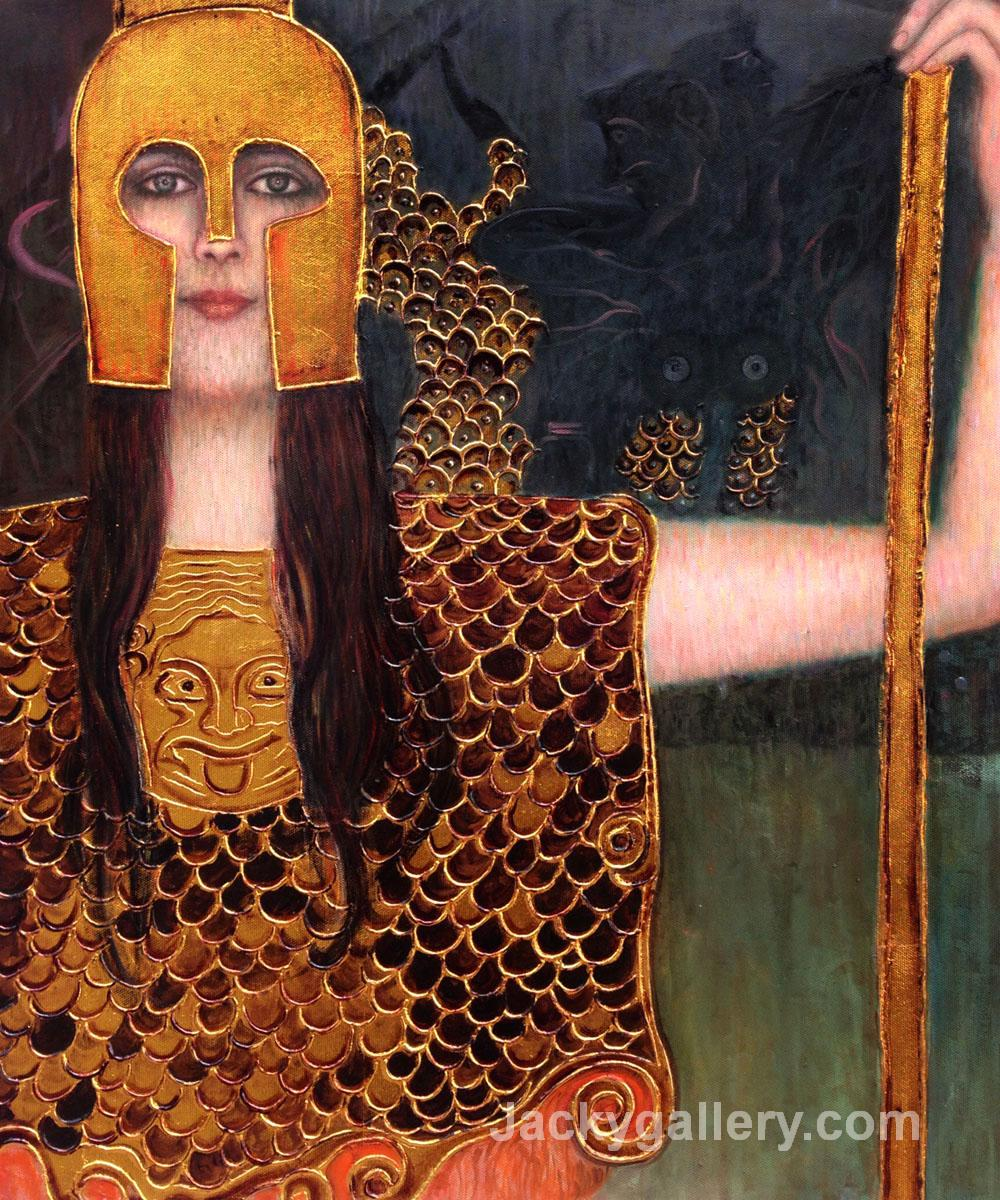 Pallas Athene (Luxury Line) by Gustav Klimt paintings reproduction