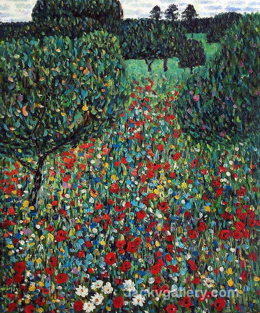 Poppy Field by Gustav Klimt paintings reproduction
