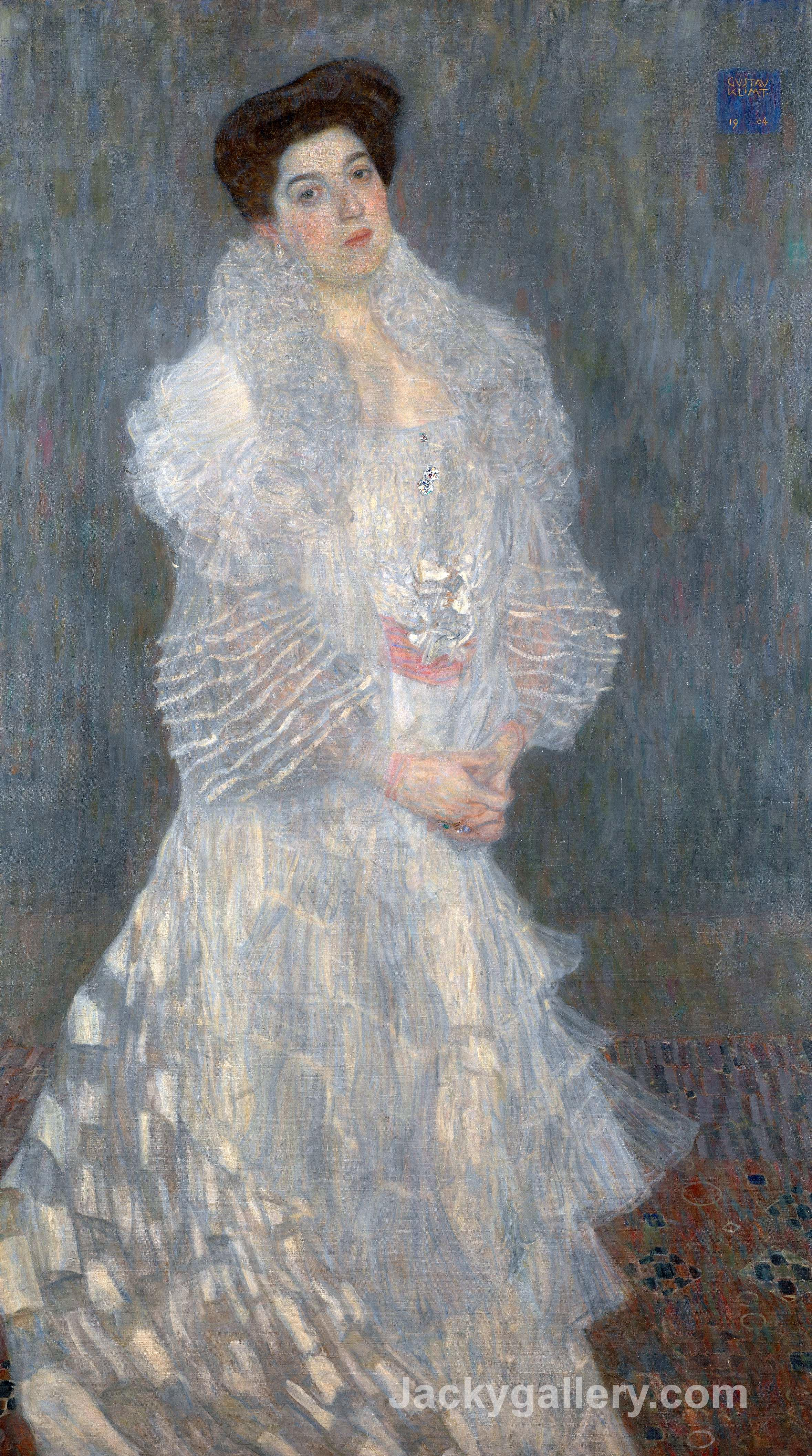 Portrait Of Hermine Gallia by Gustav Klimt paintings reproduction