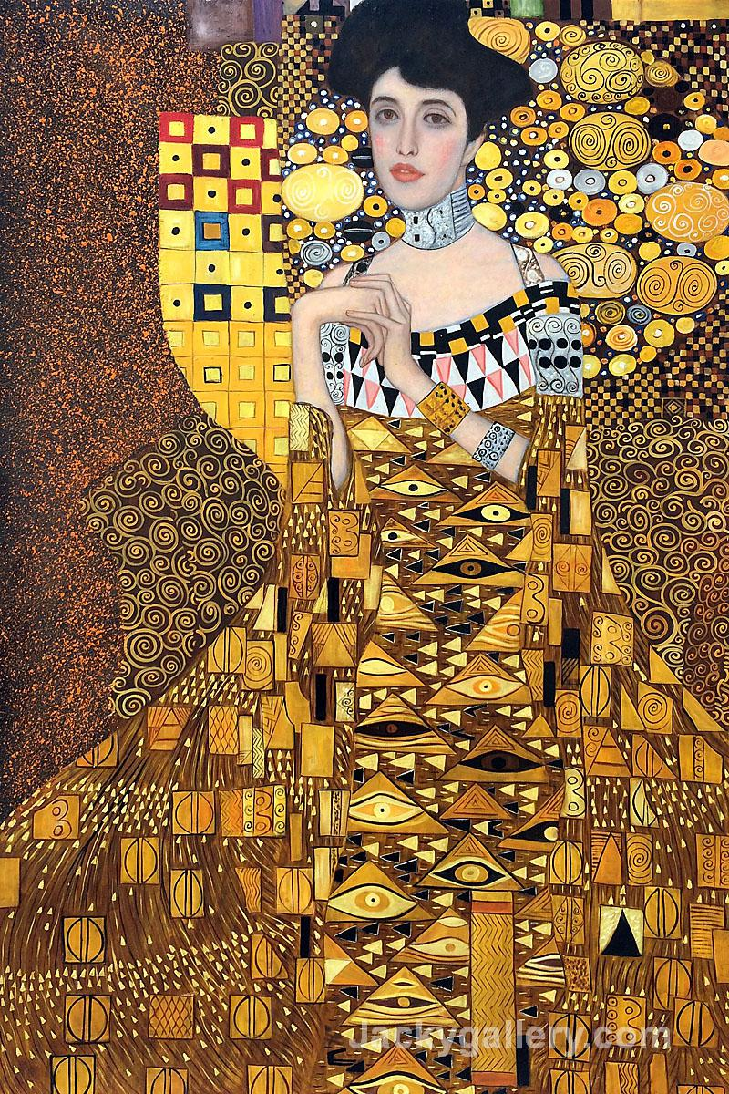 portrait of adele bloch bauer by gustav klimt paintings reproduction for sale oil painting. Black Bedroom Furniture Sets. Home Design Ideas