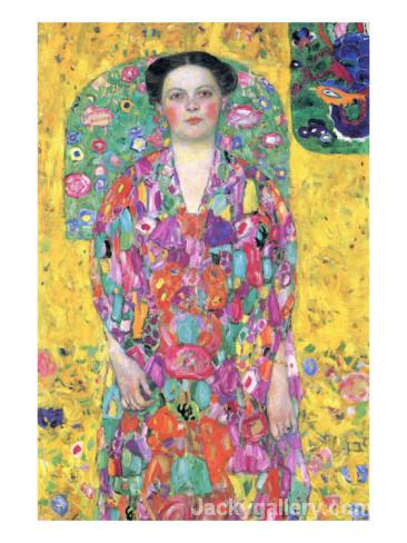 Portrait of Eugenia M Primavesi by Gustav Klimt paintings reproduction