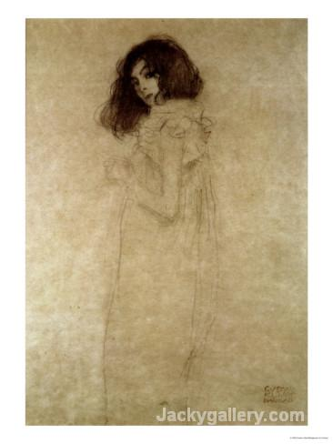 Portrait of a Young Woman-97 by Gustav Klimt paintings reproduction