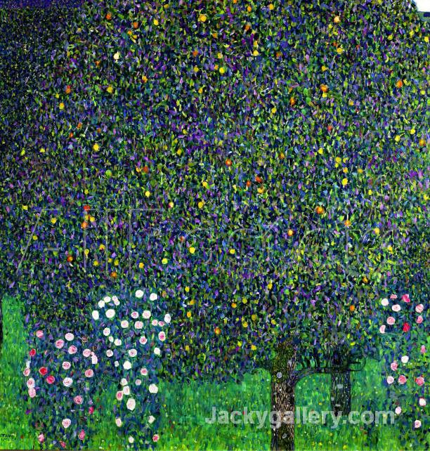 Roses Under the Trees, circa by Gustav Klimt paintings reproduction