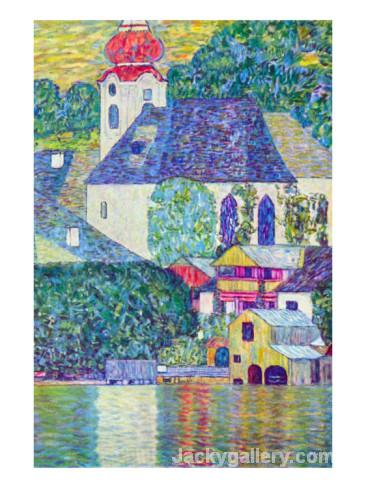 St. Wolfgang Church by Gustav Klimt paintings reproduction