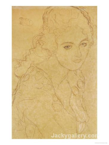 Study for the Painting Portrait Ria Munk III 18 by Gustav Klimt paintings reproduction