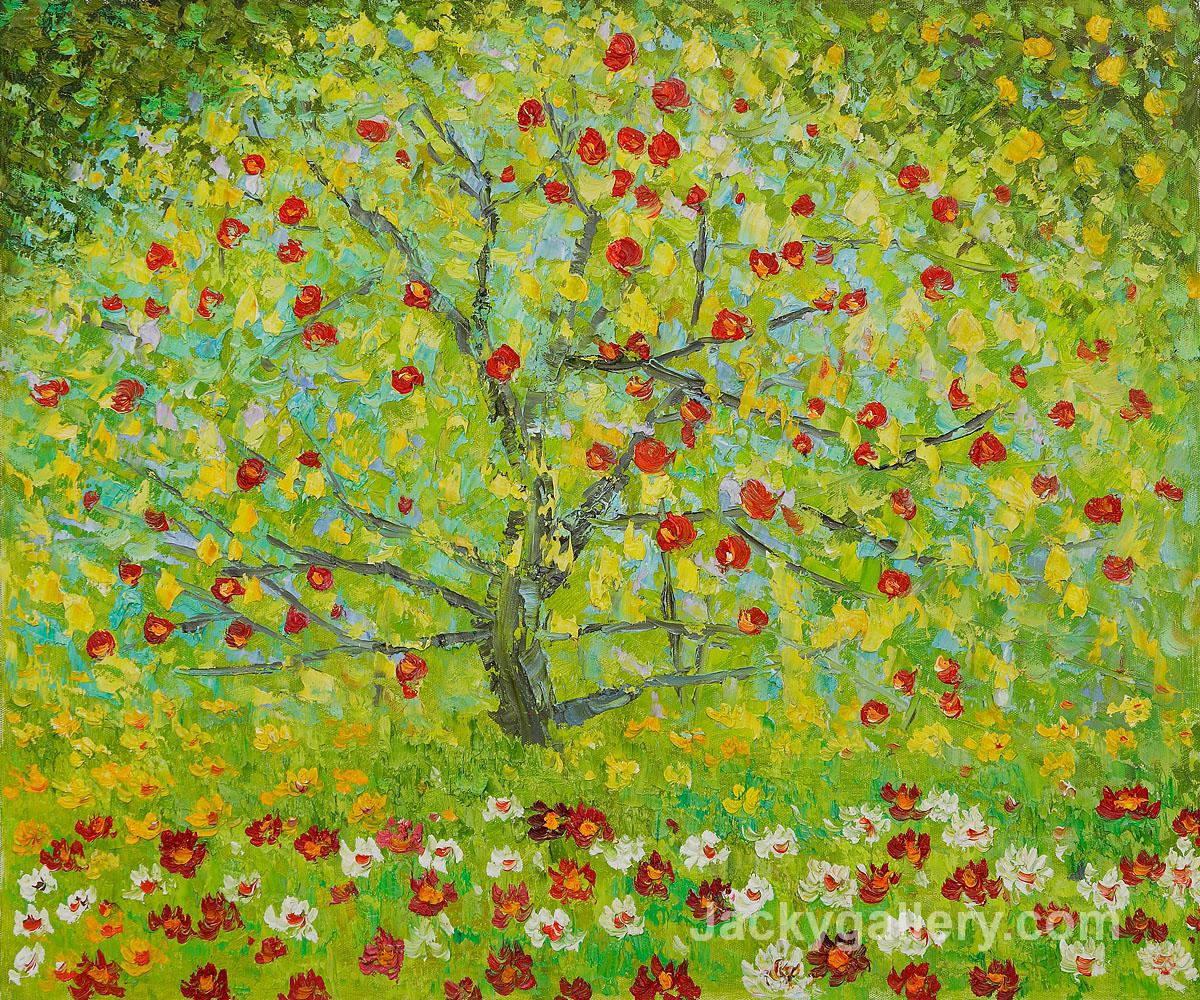 The Apple Tree by Gustav Klimt paintings reproduction