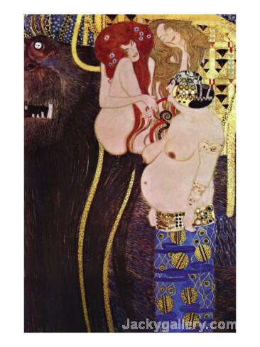 The Beethoven Frieze by Gustav Klimt paintings reproduction