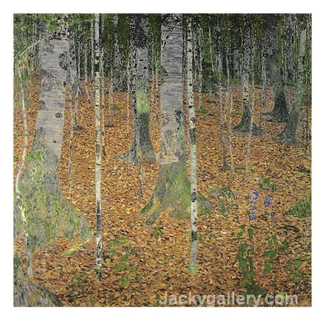 The Birch Wood by Gustav Klimt paintings reproduction