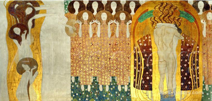 The Final Chorus of Beethovens 9th Symphony by Gustav Klimt paintings reproduction
