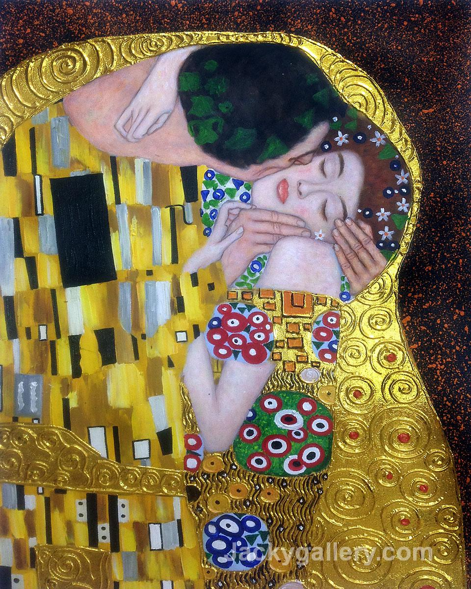 The Kiss (Luxury Line) by Gustav Klimt paintings reproduction