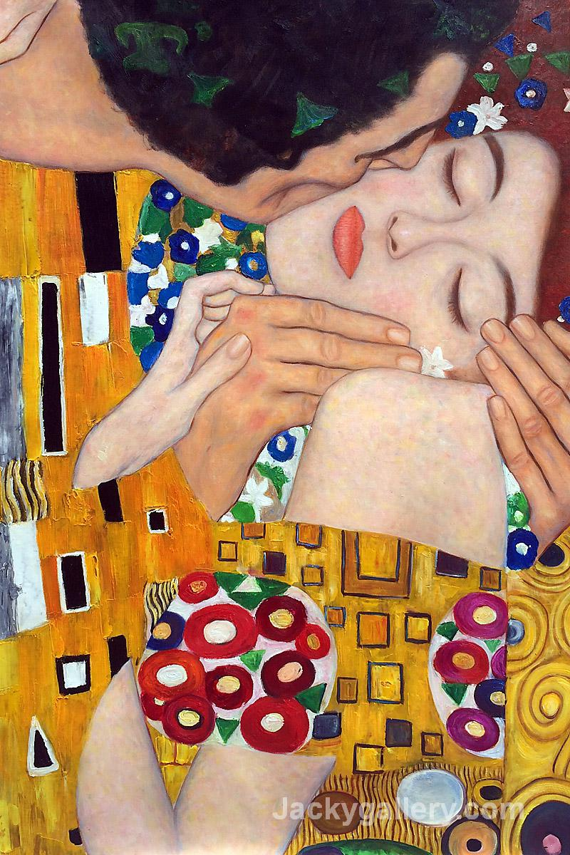 The Kiss (close-up) by Gustav Klimt paintings reproduction