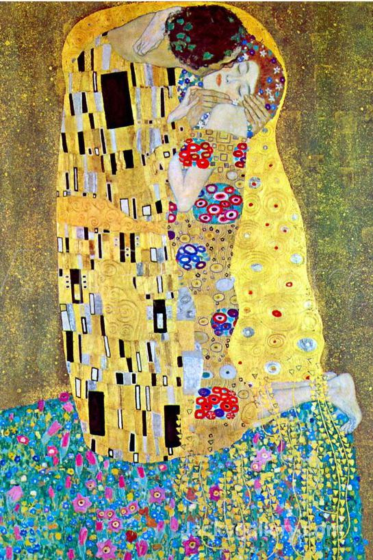 The Kiss Gold by Gustav Klimt paintings reproduction