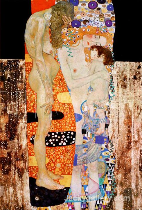 The Three Ages of Woman, c. by Gustav Klimt paintings reproduction