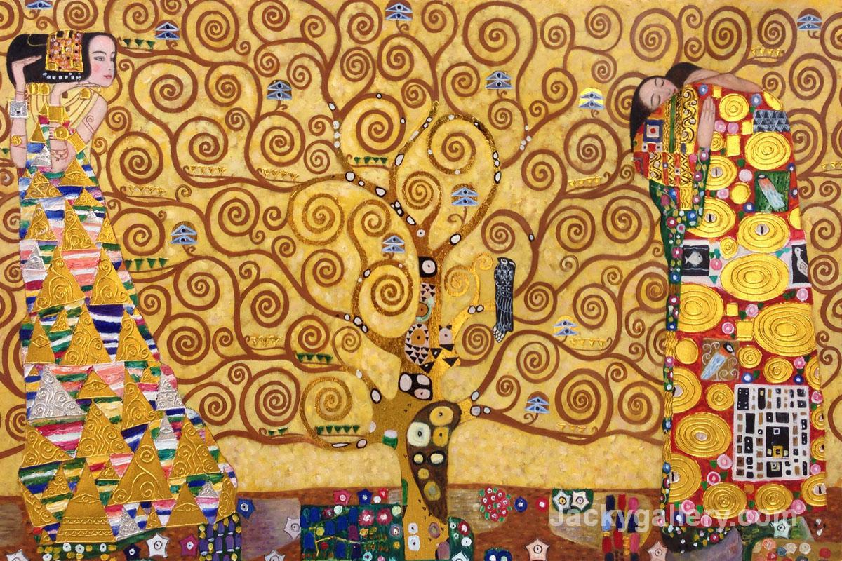 The Tree of Life, Stoclet Frieze (Luxury Line) by Gustav Klimt paintings reproduction