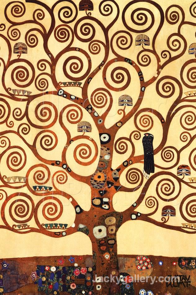 The Tree of Life, Stoclet Frieze, c. by Gustav Klimt paintings reproduction