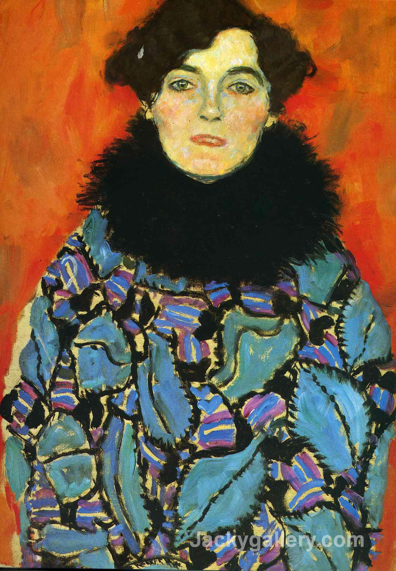 portrait of johanna staude, by Gustav Klimt paintings reproduction