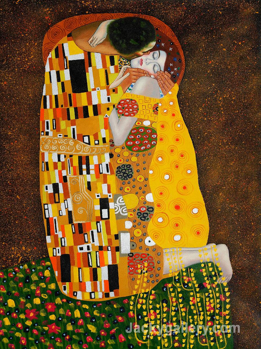the kiss by Gustav Klimt paintings reproduction