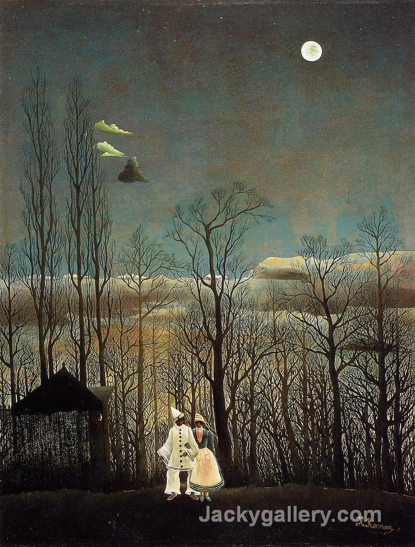 A Carnival Evening by Henri Rousseau paintings reproduction