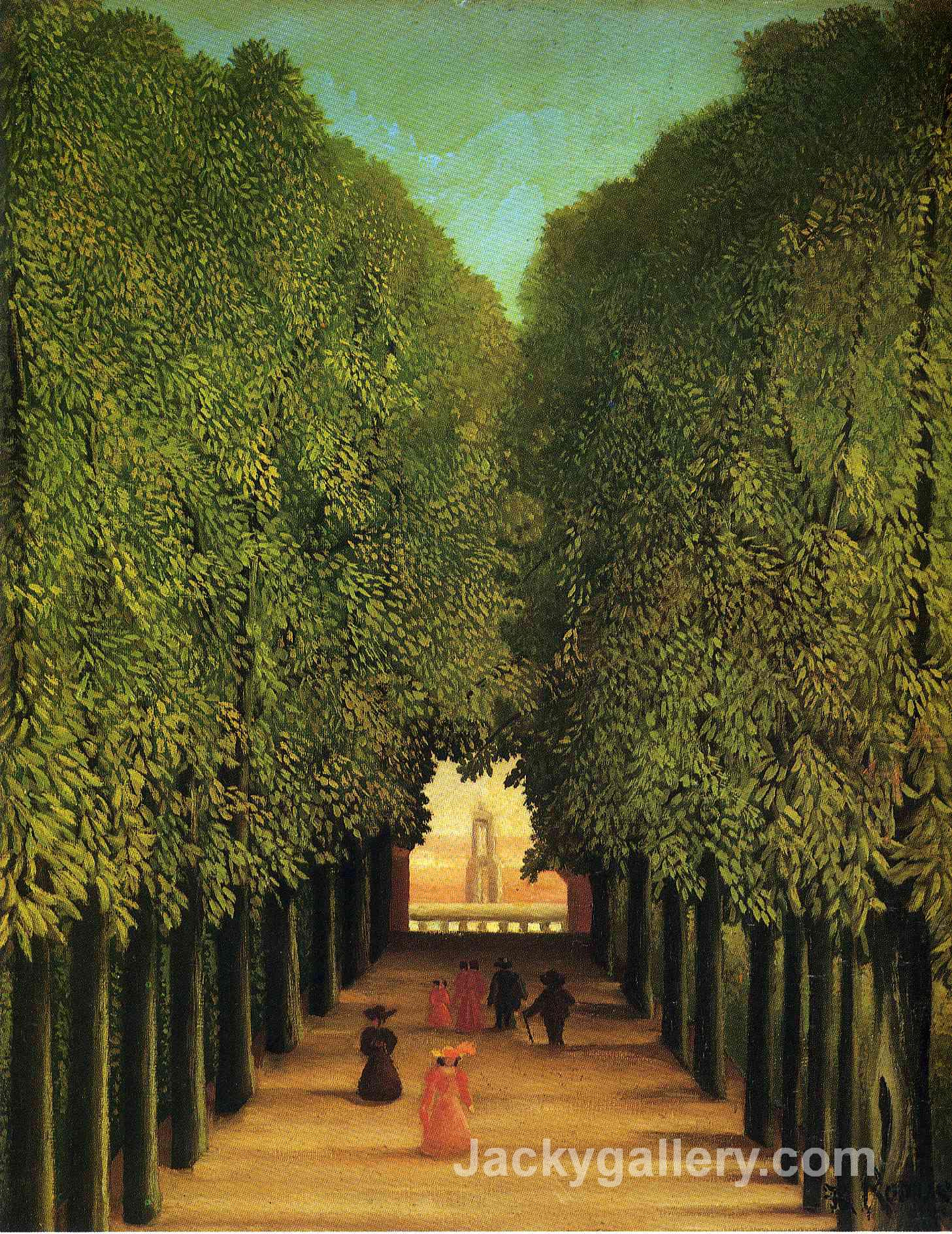 Alleyway in the Park of Saint Cloud by Henri Rousseau paintings reproduction