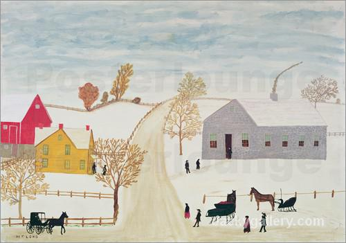 Amish Village by Henri Rousseau paintings reproduction